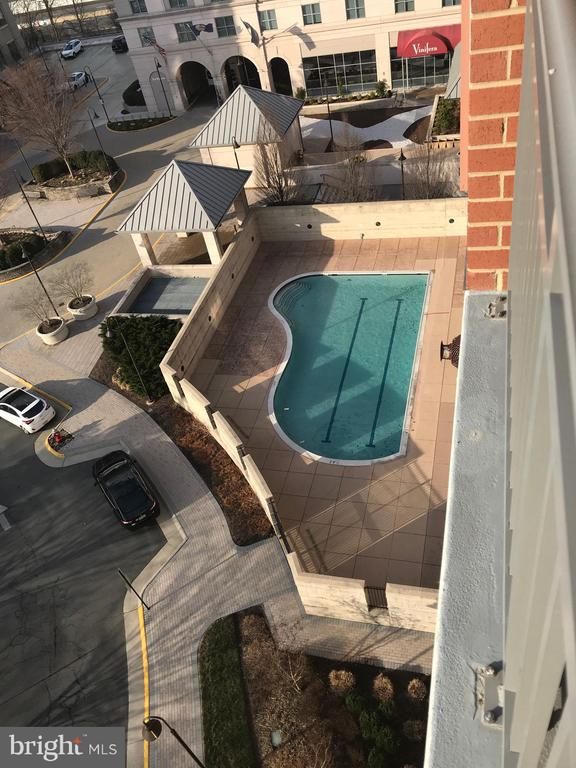 View of Pool from Unit Balcony - 11760 SUNRISE VALLEY DR #808, RESTON