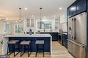 Eat-In Kitchen with Breakfast Bar - 9215 SAINT MARKS PL, FAIRFAX