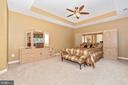 Master bedroom suite with trey ceilings. - 6902 SOUTHRIDGE PL, MIDDLETOWN