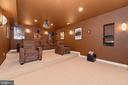Theatre Room w/tiered seating - 6902 SOUTHRIDGE PL, MIDDLETOWN
