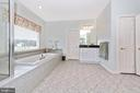 Master bathroom with large window. - 6902 SOUTHRIDGE PL, MIDDLETOWN
