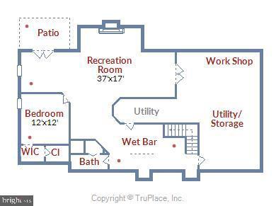 Lower Floor plan - 6620 HORSESHOE TRL, CLIFTON