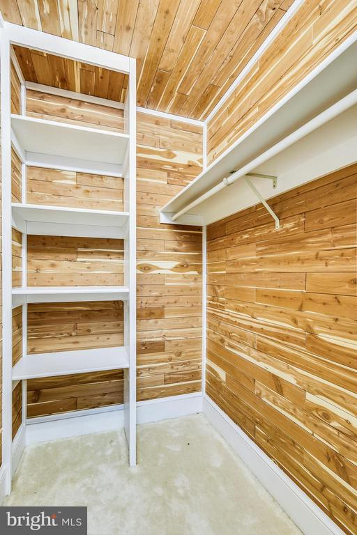 Cedar Closet in Lower Level - 6620 HORSESHOE TRL, CLIFTON