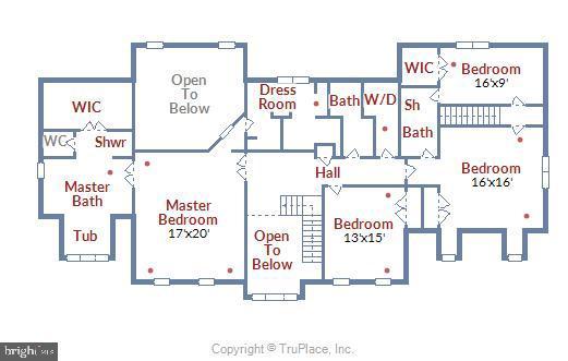 Upper Floor Plan - 6620 HORSESHOE TRL, CLIFTON
