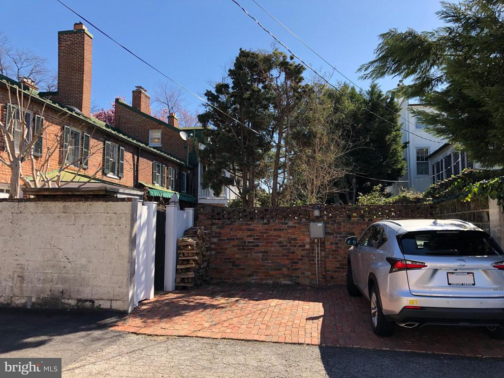 Two of the three off street parking spaces - 317 S SAINT ASAPH ST, ALEXANDRIA
