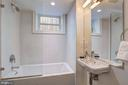 Lower Level Full Bath - 1810 15TH ST NW #1, WASHINGTON