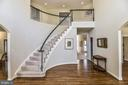 Curved Staircase in Two Story Foyer - 11330 BRIGHT POND LN, RESTON