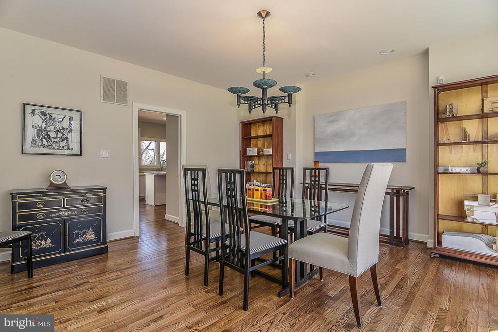 Solid Hardwoods in Formal Dining Room - 11330 BRIGHT POND LN, RESTON