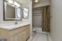 Lower Level Bath with New Fixtures & Mirror - 11330 BRIGHT POND LN, RESTON