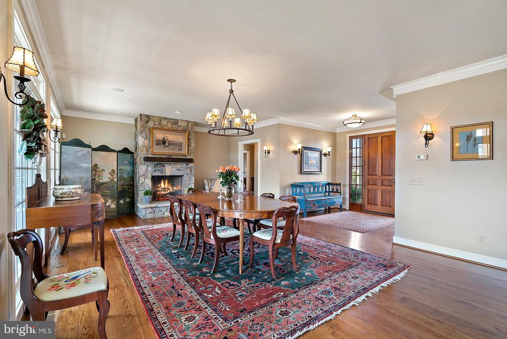 Dining Room with Wood burning Fire Place - 24082 CHAMPE FORD RD, MIDDLEBURG