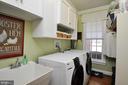 Large laundry room on kitchen level - 9910 AGNES LN, SPOTSYLVANIA