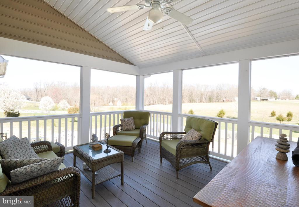 16 x 12 screened in porch overlooking the pool - 9910 AGNES LN, SPOTSYLVANIA