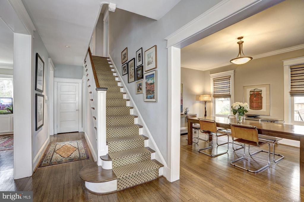 Stairway Leads Upstairs - 3906 INGOMAR ST NW, WASHINGTON