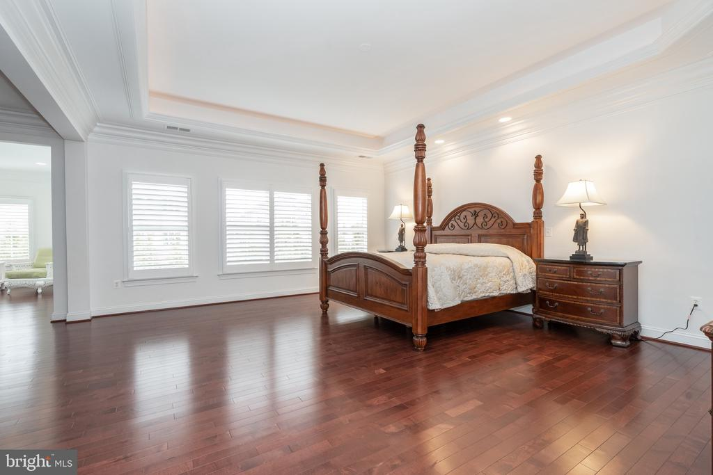 Master bedroom with sitting room and coffee bar - 9637 MAYMONT DR, VIENNA