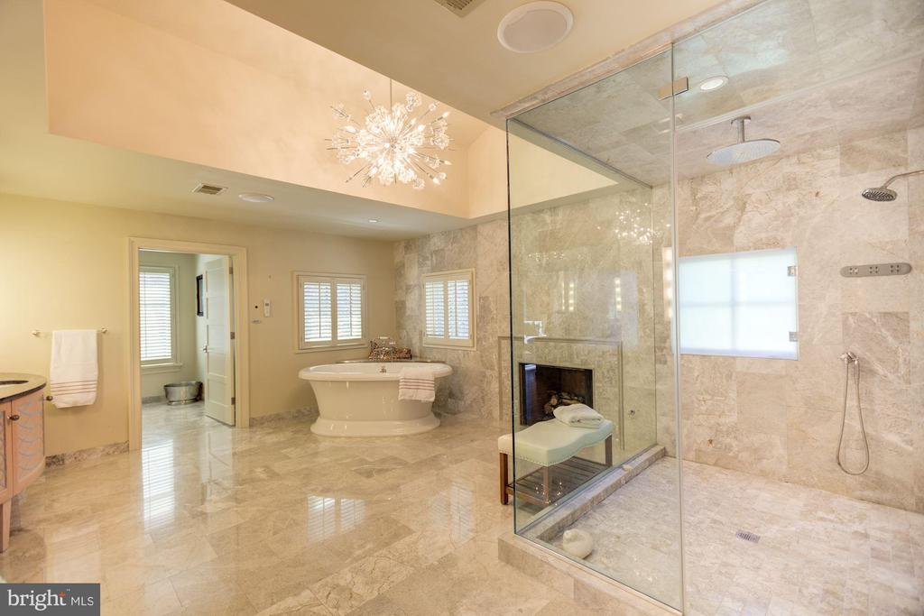 Master Bath with Glass-enclosed Steam Shower - 1168 CHAIN BRIDGE RD, MCLEAN