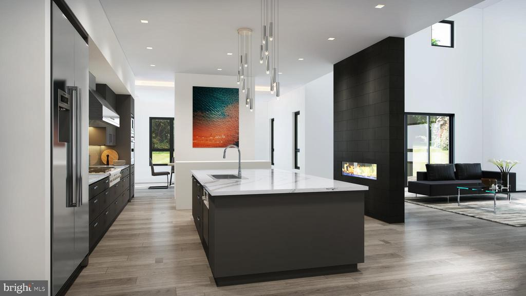 Interior View of Kitchen and Great Room - 310 RUNNER RD, GREAT FALLS