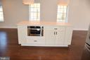 Kitchen Island with build in microwave oven - 2014 S LANGLEY ST, ARLINGTON