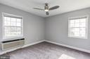 Brand new ceiling fan in the bedroom! - 2241 FARRINGTON AVE #201, ALEXANDRIA