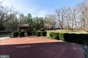 Patio surrounded by Boxwoods - 1919 CASTLEMAN RD, BERRYVILLE