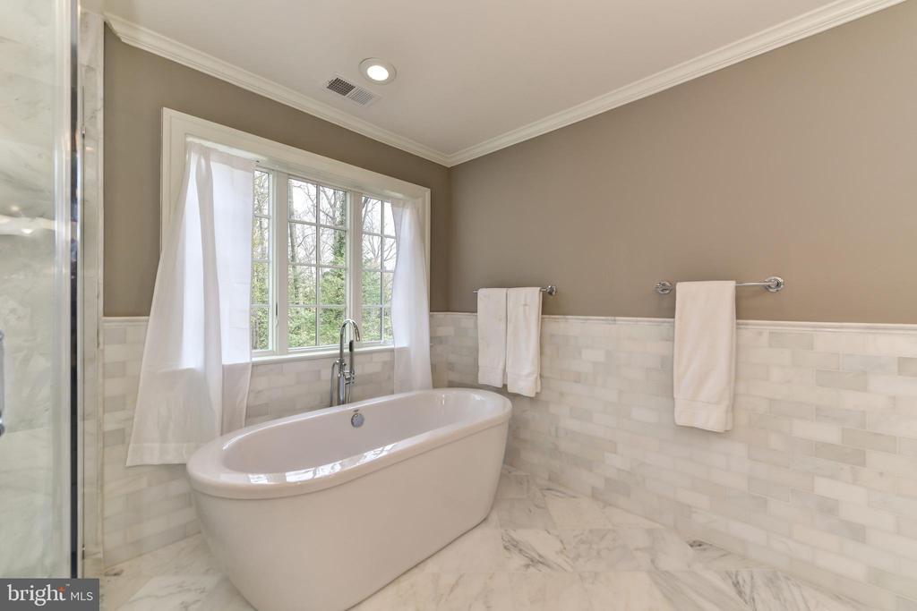 Generously sized soaking tub - 402 PRINCETON BLVD, ALEXANDRIA