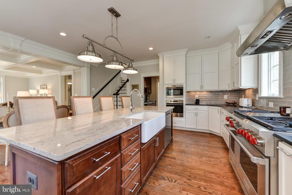 Kitchen has 6 burner Wolf dual-fuel range - 402 PRINCETON BLVD, ALEXANDRIA