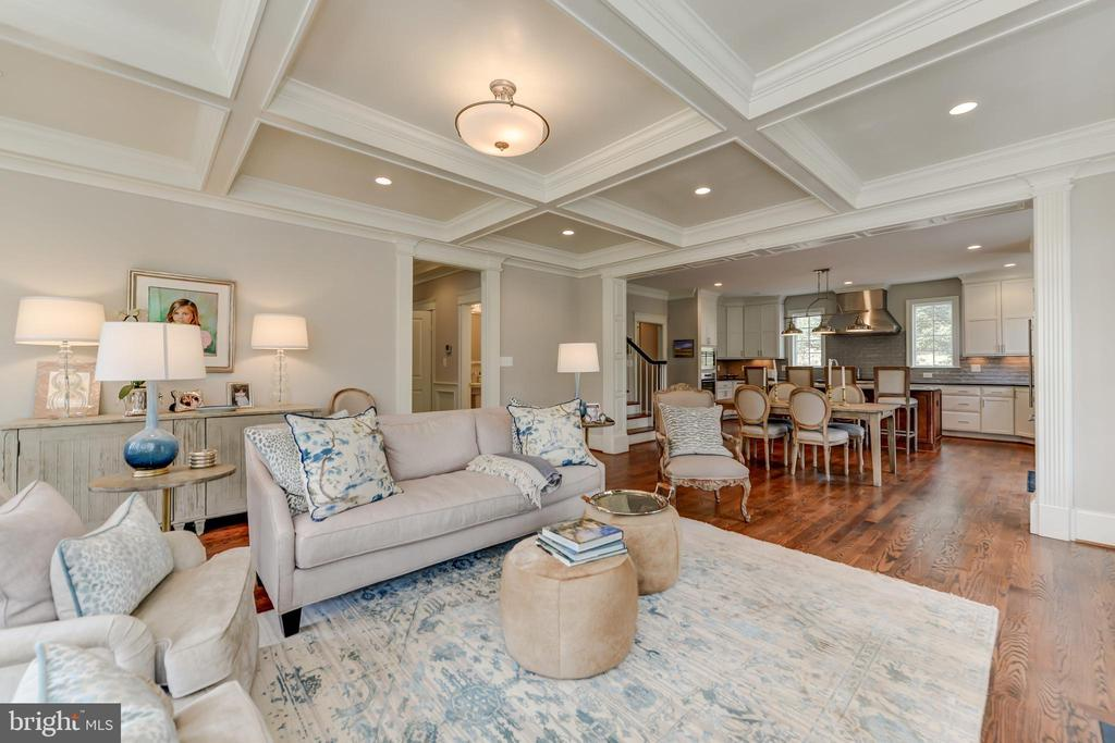 Great Room has coffered ceiling - 402 PRINCETON BLVD, ALEXANDRIA