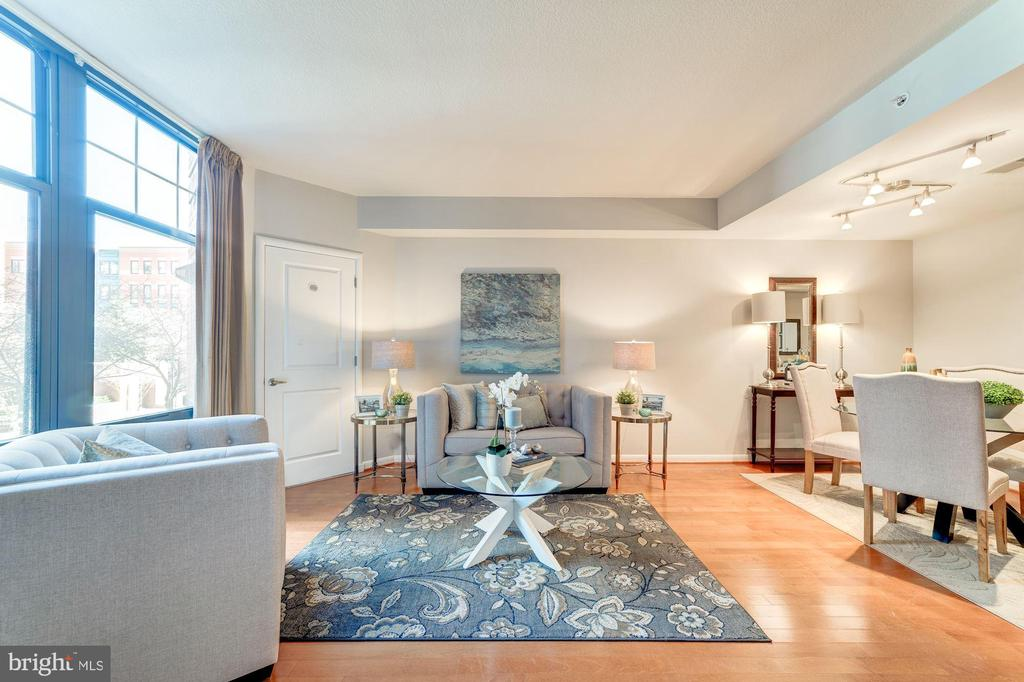 Light-filled Living Room - 1021 N GARFIELD ST #221, ARLINGTON