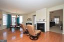 Extended Breakfast Area w/2 Sided Fireplace - 11829 CLARKS MOUNTAIN RD, BRISTOW