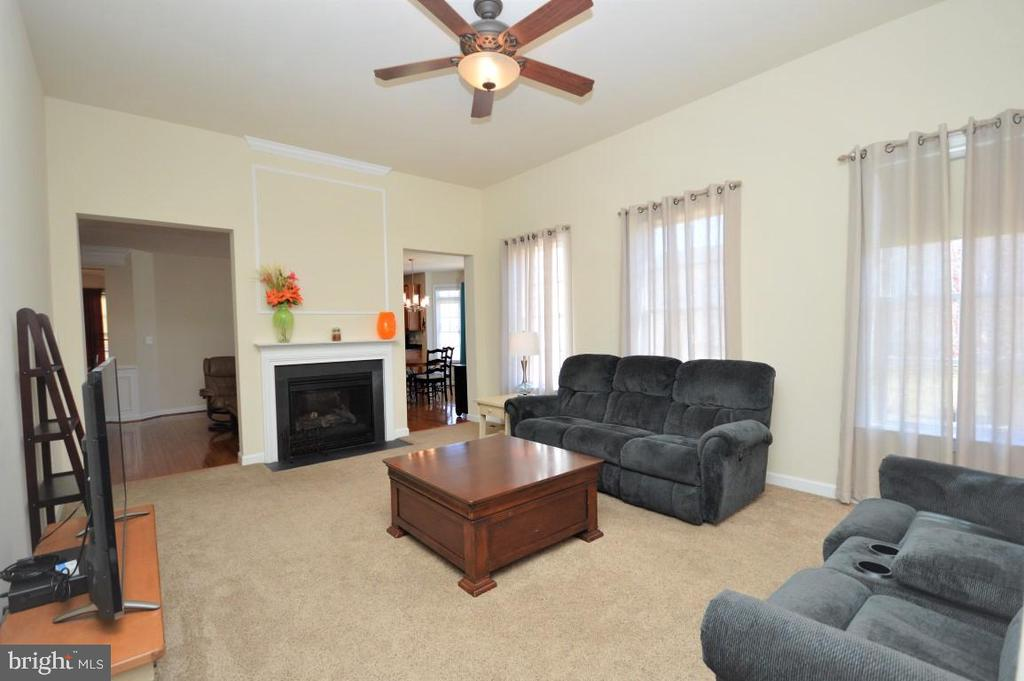 2 Sided Fireplace in Family Room - 11829 CLARKS MOUNTAIN RD, BRISTOW