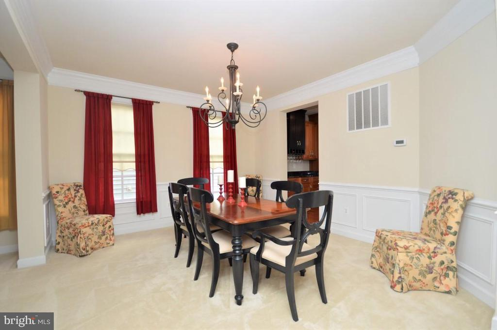Dining Room w/Custom Molding - 11829 CLARKS MOUNTAIN RD, BRISTOW