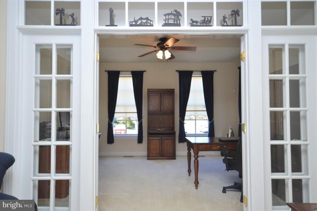 View of Office w/French Doors - 11829 CLARKS MOUNTAIN RD, BRISTOW