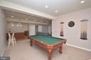 Game Room w/Pool Table - 11829 CLARKS MOUNTAIN RD, BRISTOW