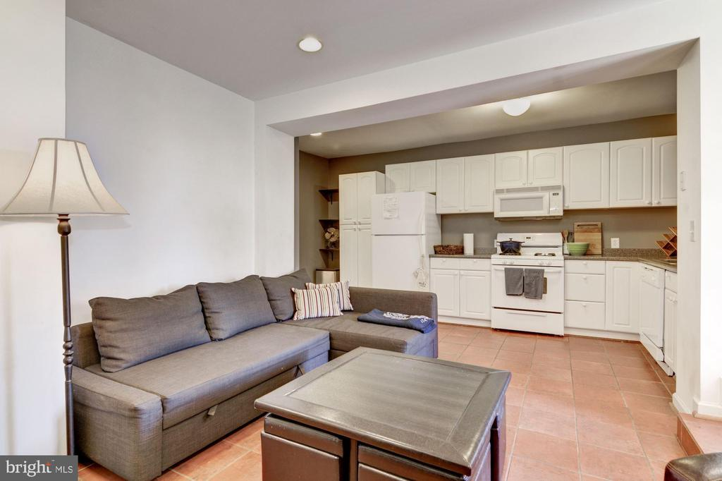 Rental Unit // Living Room & Kitchen // 1Bed + 1Ba - 2024 N CAPITOL NW, WASHINGTON