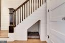 1st Floor // Stair Detail w/ Dog Room - 2024 N CAPITOL NW, WASHINGTON