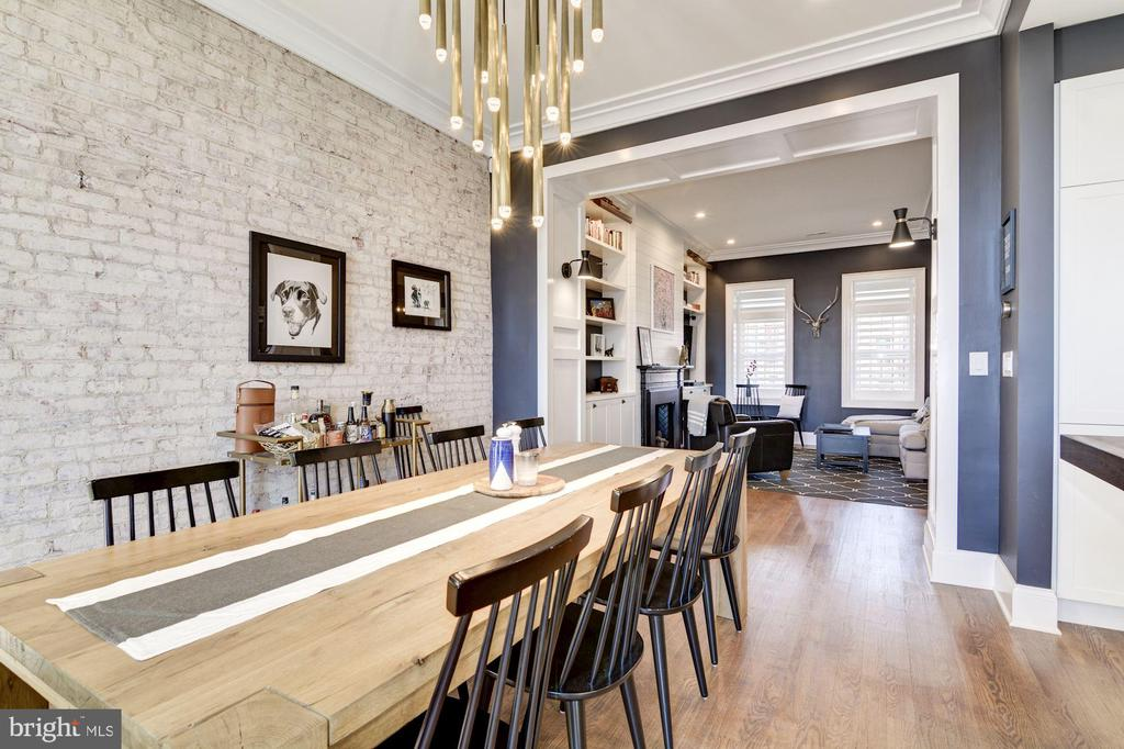 1st Floor // Dining Area w/Exposed Brick - 2024 N CAPITOL NW, WASHINGTON
