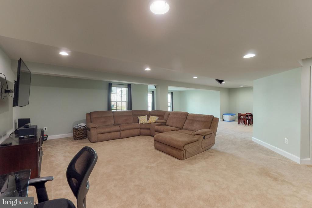 Finished basement with surround sound! - 25875 SYCAMORE GROVE PL, ALDIE