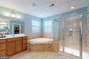Master bath with separate shower and tub - 25875 SYCAMORE GROVE PL, ALDIE