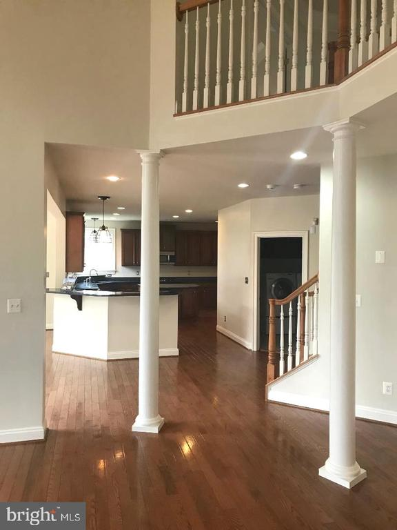 View from family room towards kitchen - 36895 LEITH LN, MIDDLEBURG