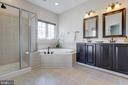 Updated master bath - 9331 HUNDITH HILL CT, LORTON