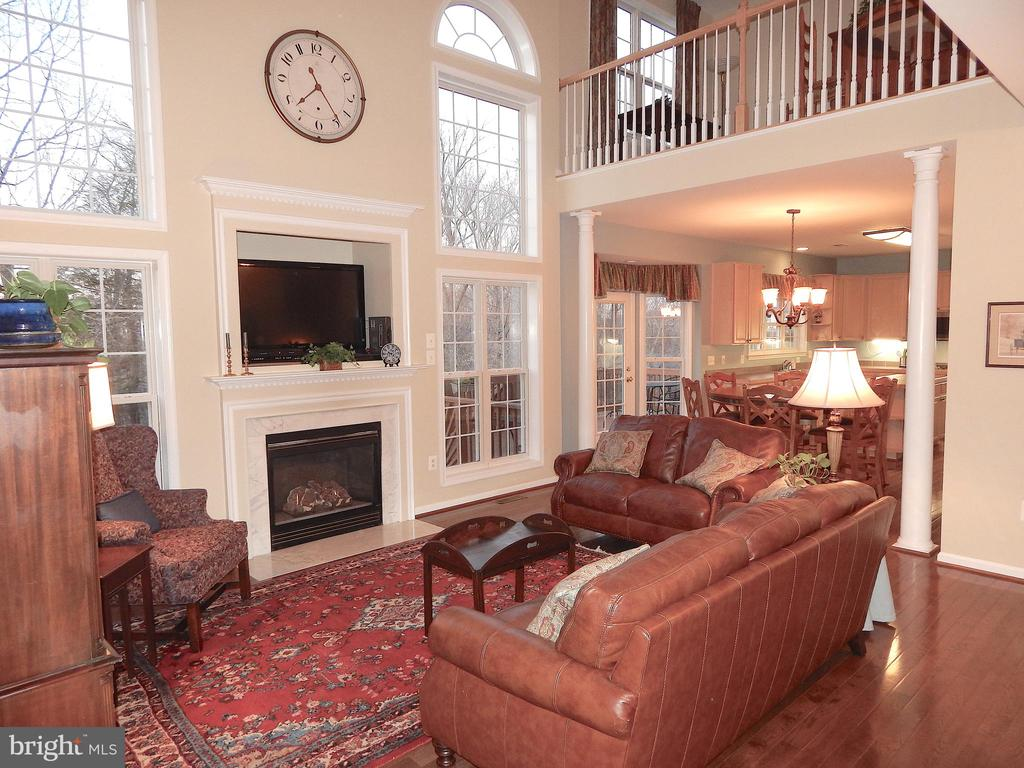 Beautiful, spacious family rm w/wood floors - 81 BRUSH EVERARD CT, STAFFORD