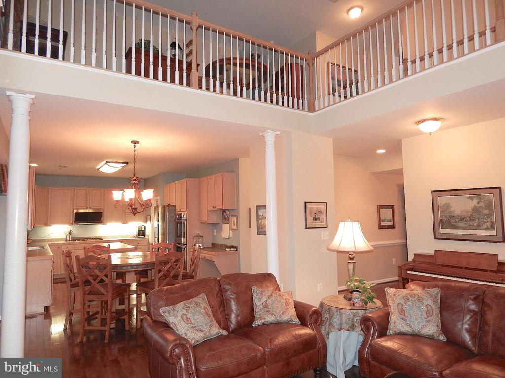 2 story family room w/loft above - 81 BRUSH EVERARD CT, STAFFORD
