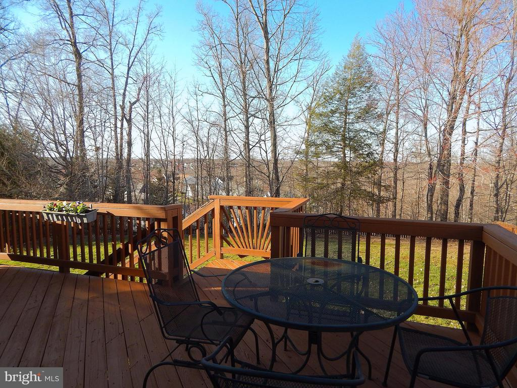View from deck. Wooded common area scenic privacy - 81 BRUSH EVERARD CT, STAFFORD