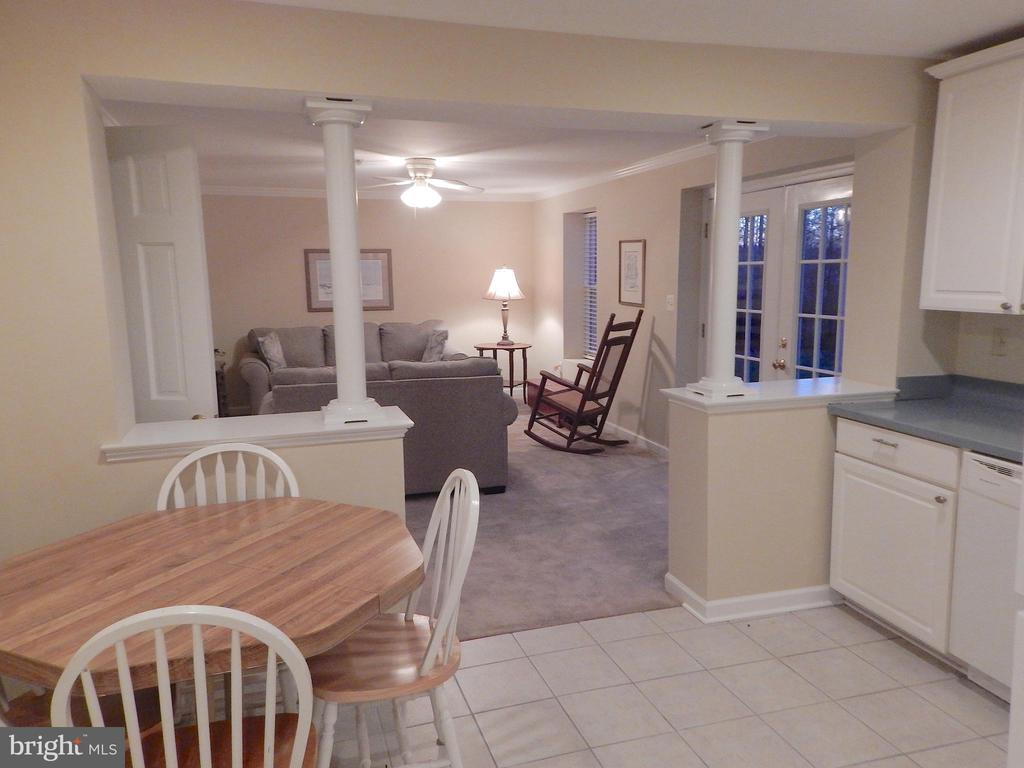 View into den w/french doors to fenced back yard - 81 BRUSH EVERARD CT, STAFFORD