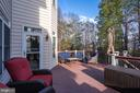 Beautiful Trex Deck backing to trees and pond! - 22418 DINAH PL, LEESBURG