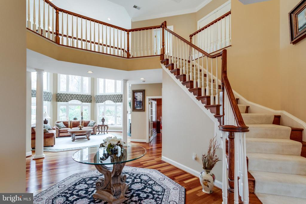 Two-story Foyer with Views to Dramatic Great Room. - 2565 YONDER HILLS WAY, OAKTON
