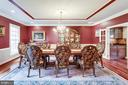 Stunning Details in this Spacious Dining Room. - 2565 YONDER HILLS WAY, OAKTON