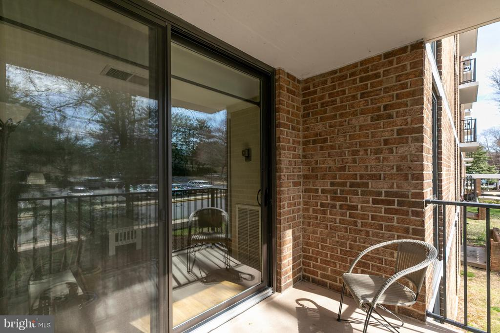 Balcony off of Living room - 2311 PIMMIT DR #213, FALLS CHURCH