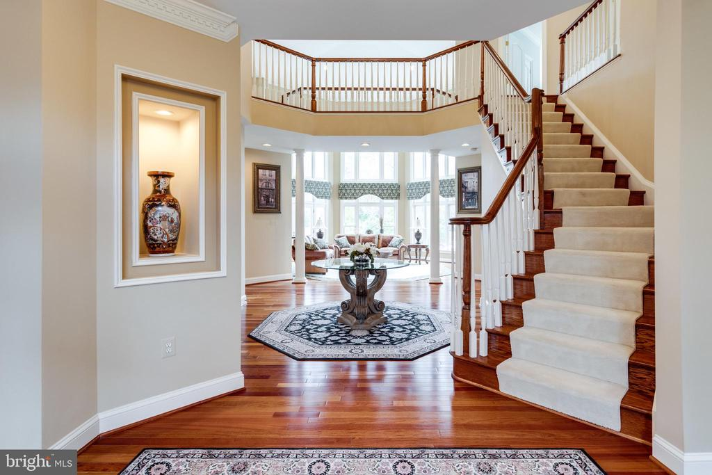 Grand Foyer with Curvilinear Hardwood Staircase. - 2565 YONDER HILLS WAY, OAKTON