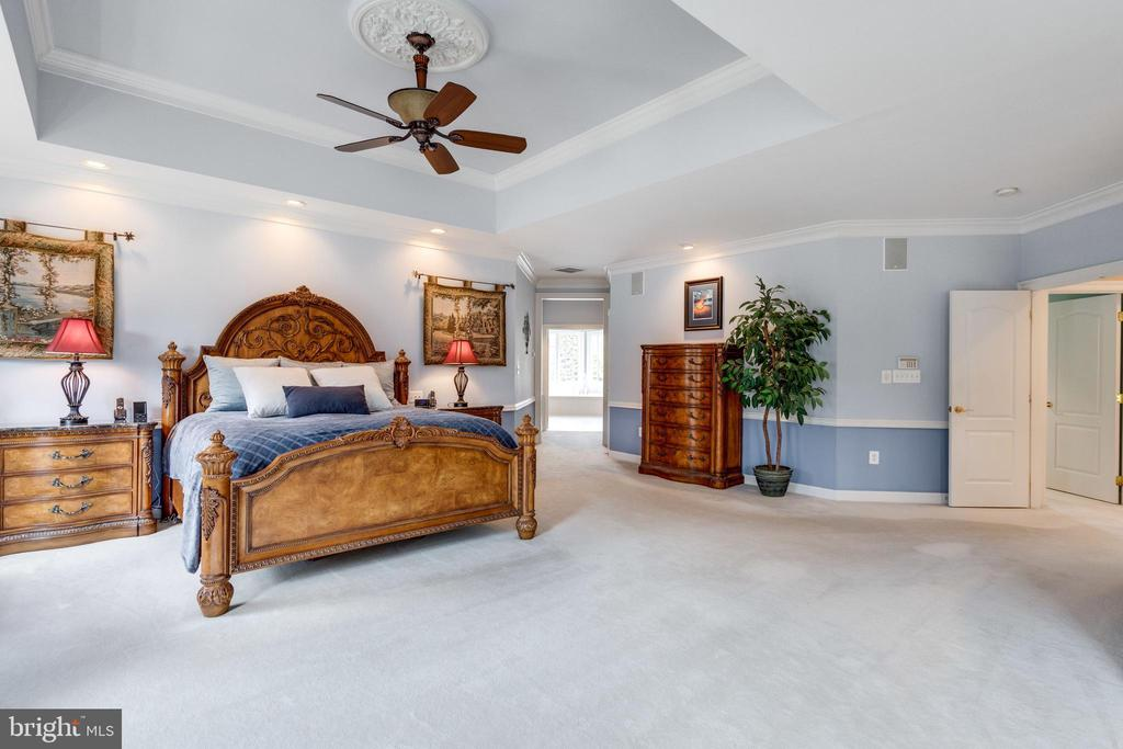 Generous Master Suite with Deep Tray Ceiling. - 2565 YONDER HILLS WAY, OAKTON