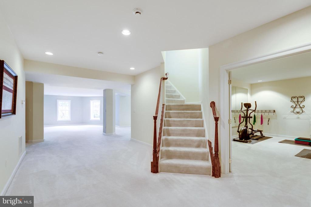 Sun-drenched Lower Level. - 2565 YONDER HILLS WAY, OAKTON